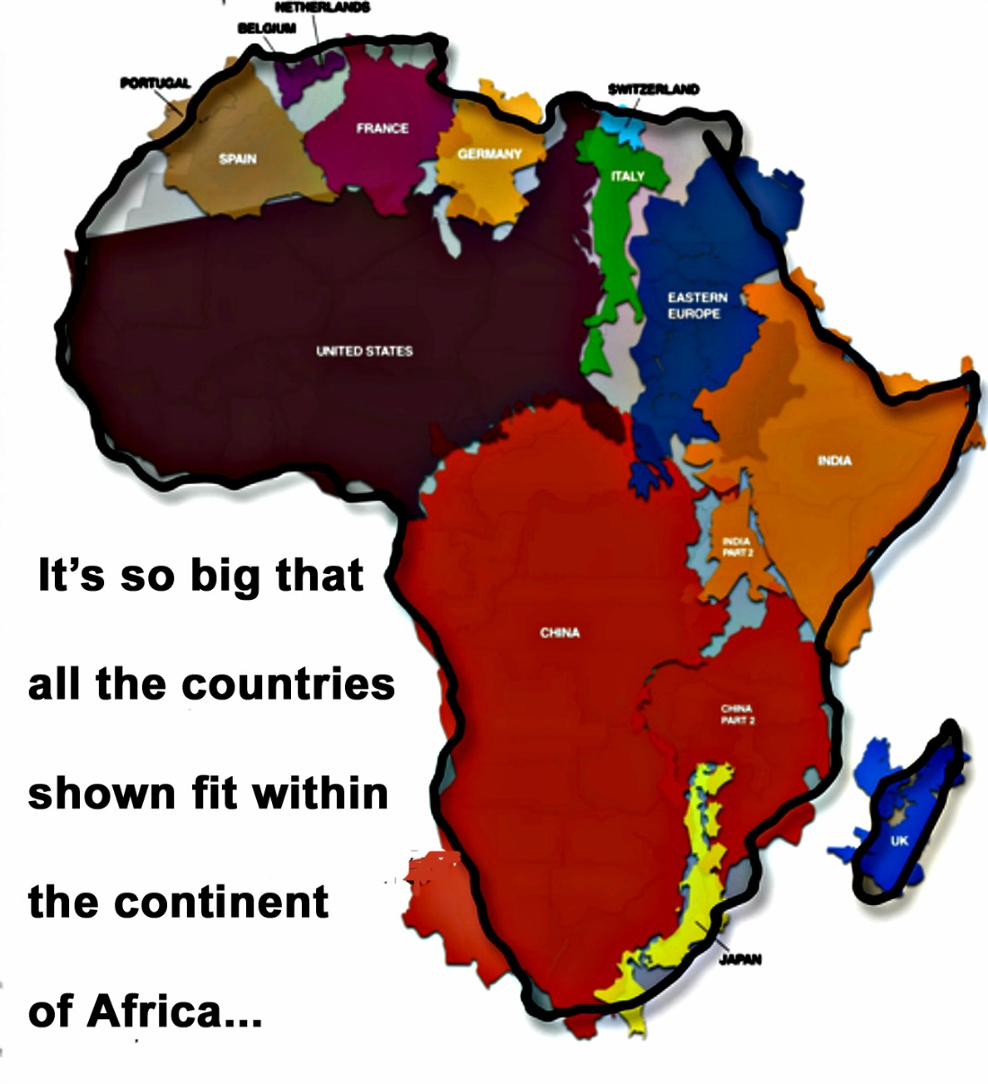 True Size of Africa | The Continent of Africa | Pinterest ...